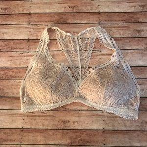 Victoria's Secret Cream Lace Bralette